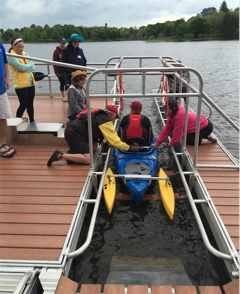 adaptive kayaker launching