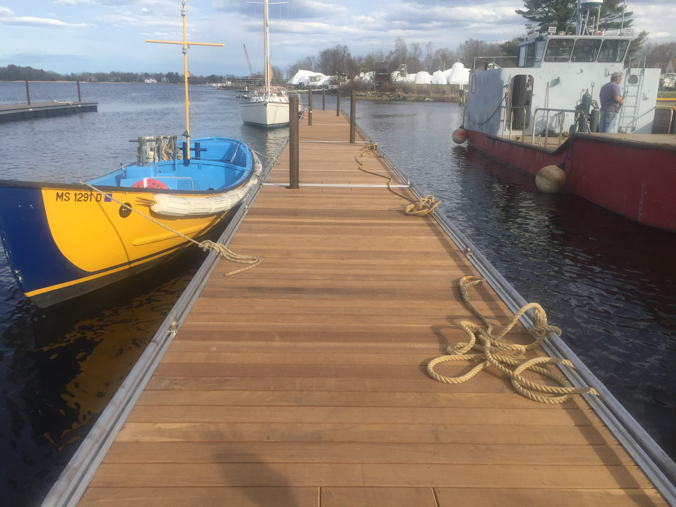 Floating Docks Manufactured and Installed on Massachusetts River