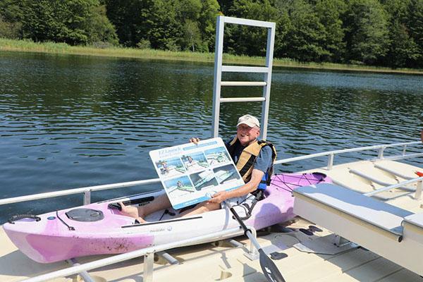 Bob Sasin, FLSP President, checking out the new kayak launch